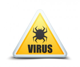 Virus warning sign vector material 05