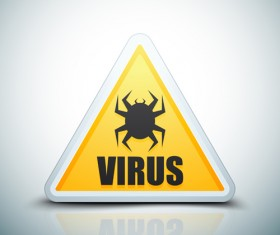Virus warning sign vector material 06