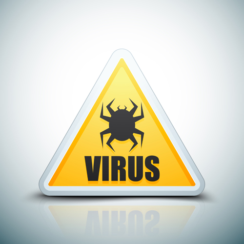 Virus warning sign vector material 06 - Other Icons free ...