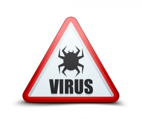 Virus warning sign vector material 07