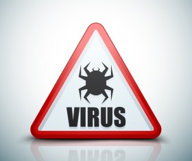 Virus warning sign vector material 08