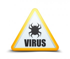 Virus warning sign vector material 09