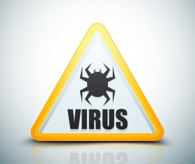 Virus warning sign vector material 10