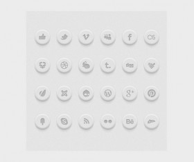 White social psd Icons