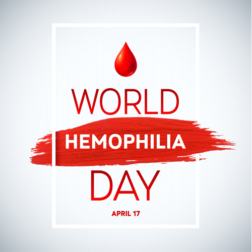 World Hemophilia Day poster vector graphics 01