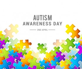 World autism awareness day poster vector 01