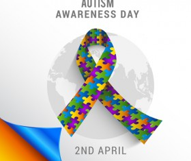 World autism awareness day poster vector 02