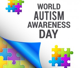 World autism awareness day poster vector 03