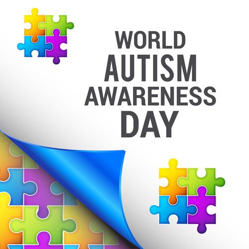 Autism Awareness Art Posters Framed Artwork: World Autism Awareness Day Poster Vector 03 Free Download