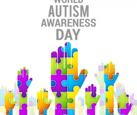 World autism awareness day poster vector 04