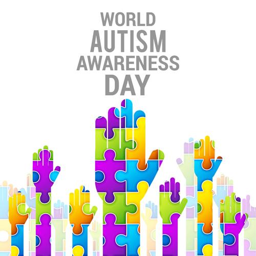 Autism Awareness Art Posters Framed Artwork: World Autism Awareness Day Poster Vector 04 Free Download