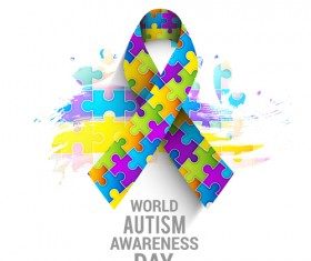 World autism awareness day poster vector 05