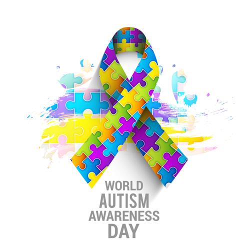 Autism Awareness Art Posters Framed Artwork: World Autism Awareness Day Poster Vector 05 Free Download