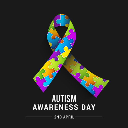 World autism awareness day poster vector 06