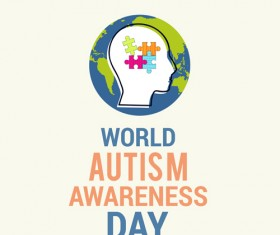 World autism awareness day poster vector 08