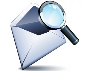 email and magnifier vector