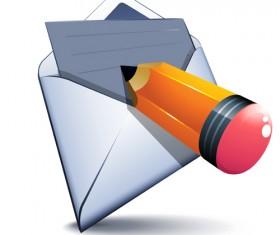 email and pencil vectors 01
