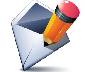 email and pencil vectors 02