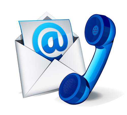 email and phone vector free download