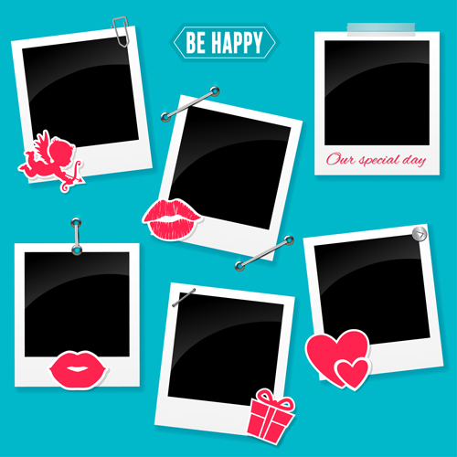 Love Photo Download: Happy Love Photo Frame Vector