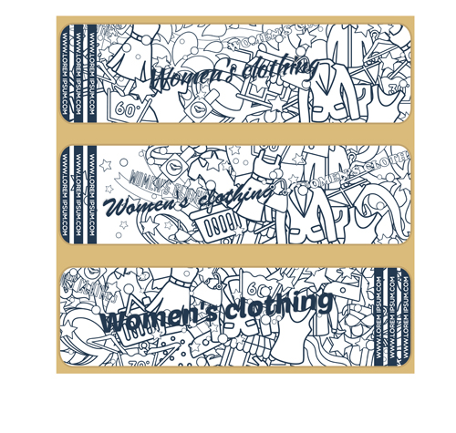 womens clothing hand drawn banners 01 vector banner free
