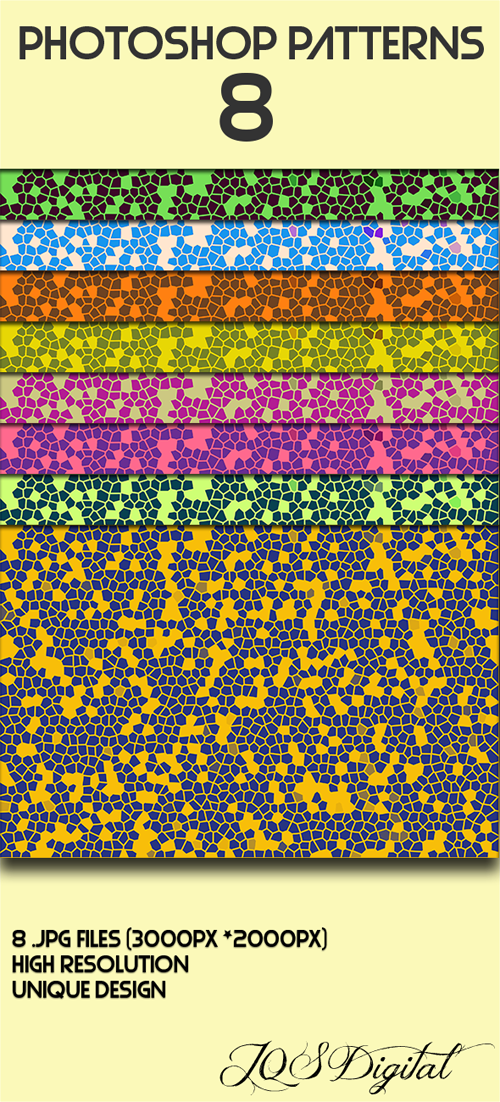 8 Kind geometrical photoshop patterns