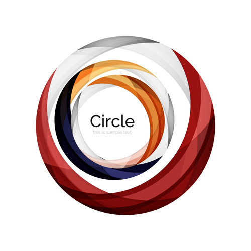 Abstract circle colored background vector 02