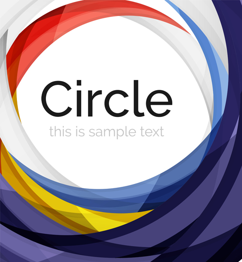 Abstract circle colored background vector 11