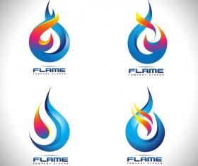 Abstract fire logos vector 02