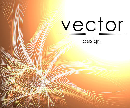 Abstract lines with brown background vector 01