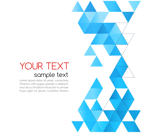 Abstract triangles background art vector 04 free download