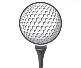 Ball golf vector material