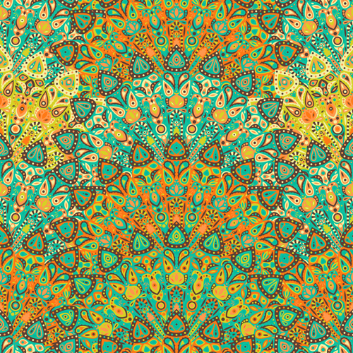 Beautiful ethnic decor seamless pattern vector 05