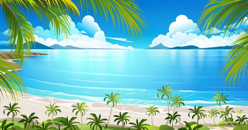 vector scenery tropical - photo #22