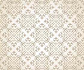 Beige floral seamless pattern vectors 01