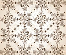Beige floral seamless pattern vectors 02
