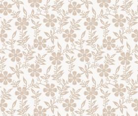Beige floral seamless pattern vectors 03