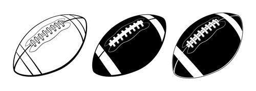 Black with white american football vector