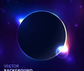 Blue cosmic background vector 01