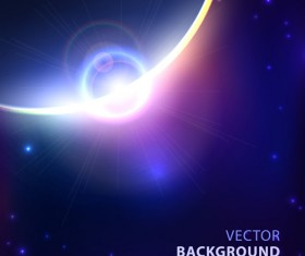 Blue cosmic background vector 02