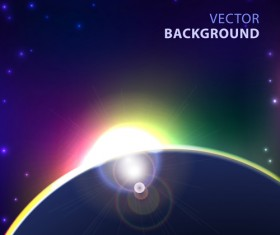 Blue cosmic background vector 03