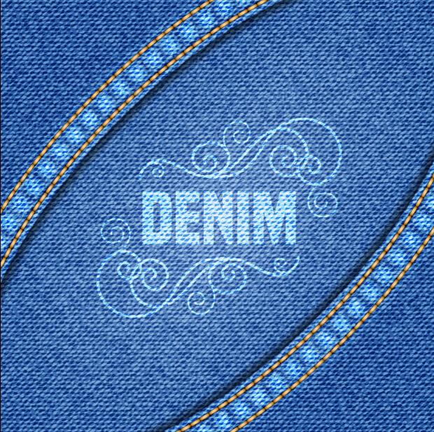 Blue denim texture background vector graphics 08