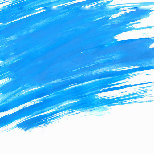 Blue watercolor wet background vector 03