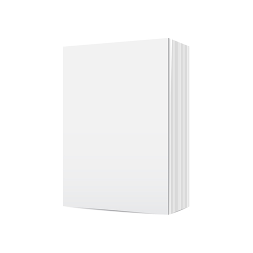 Book blank template vector set 13
