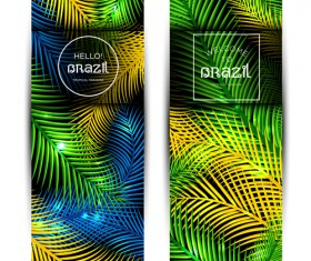 Brazil tropical paradise vector banners 01