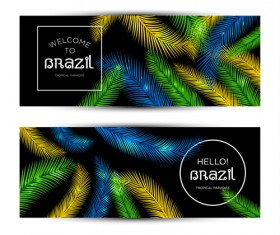 Brazil tropical paradise vector banners 03