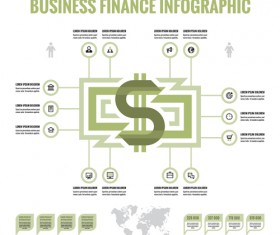 Business finance infographic vector 03
