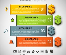 Business finance infographic vector 04