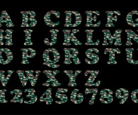 Camouflage alphabets fonts vector 01