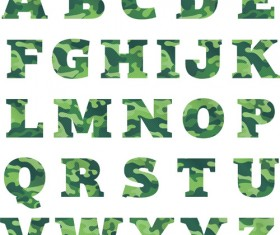 Camouflage alphabets fonts vector 02